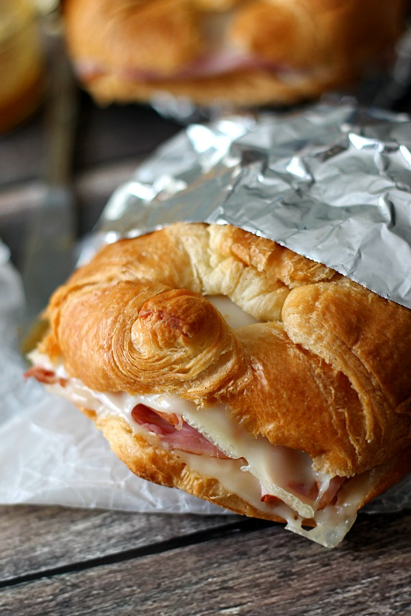 All Created - Campfire Ham and Cheese Croissants
