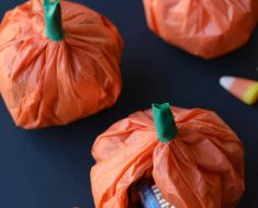 All Created - Tissue Paper Pumpkin Candy Favors