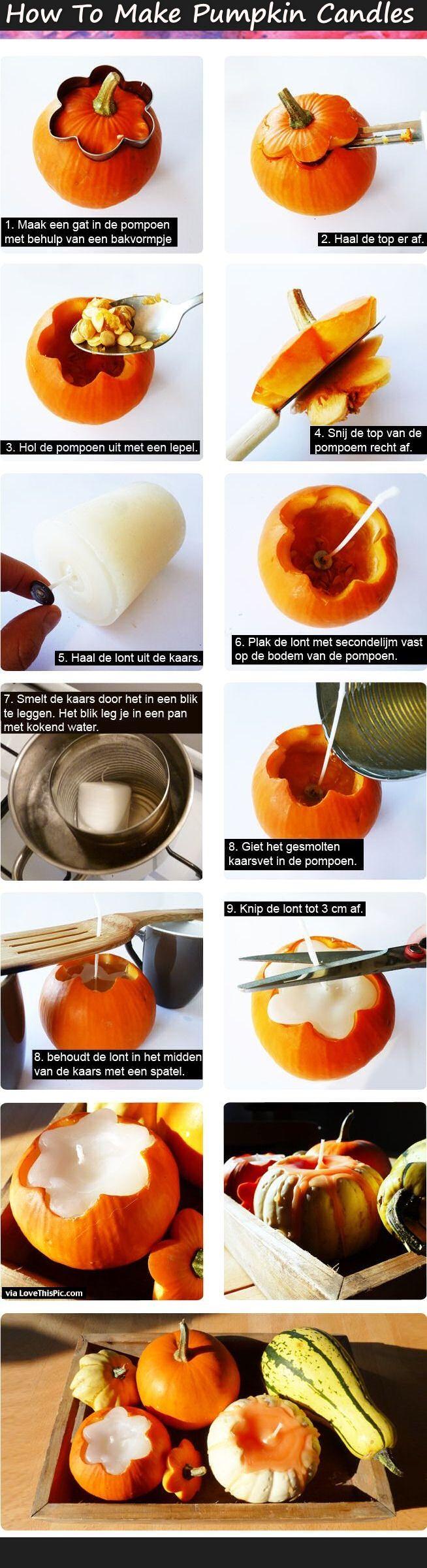 All Created - Pumpkin Candles