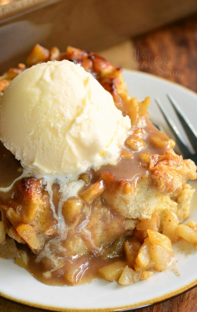 All Created - Apple Pie Bread Pudding