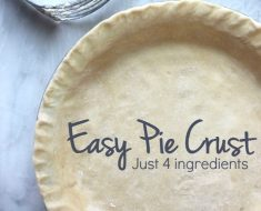 All Created - 4 Ingredient Pie Crust