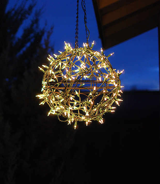 Upcycle Your Hanging Basket Into Beautiful Glowing Orb