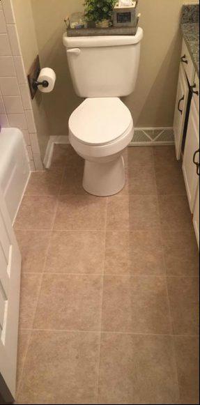 All Created - Tiled Bathroom Floor