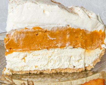 No Bake Triple Layer Pumpkin Pie