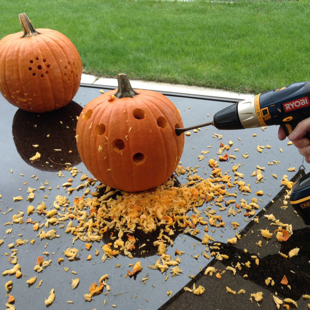 All Created - All Created - carve a pumpkin with drill
