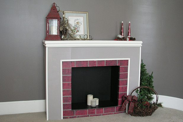 how to make a fireplace out of cardboard