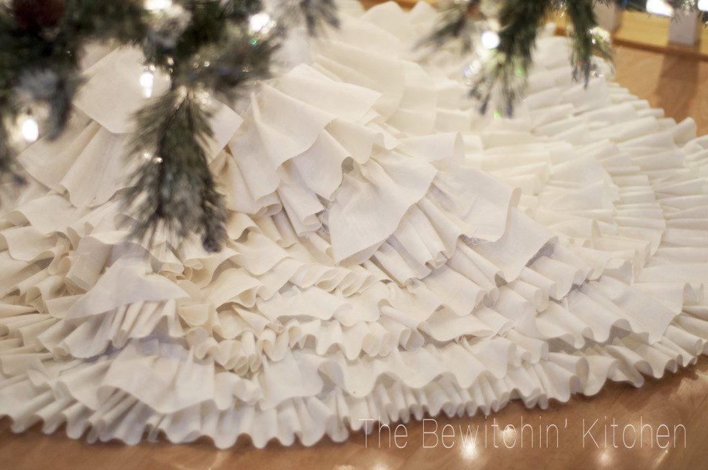 All Created - No Sew Ruffled Tree Skirt