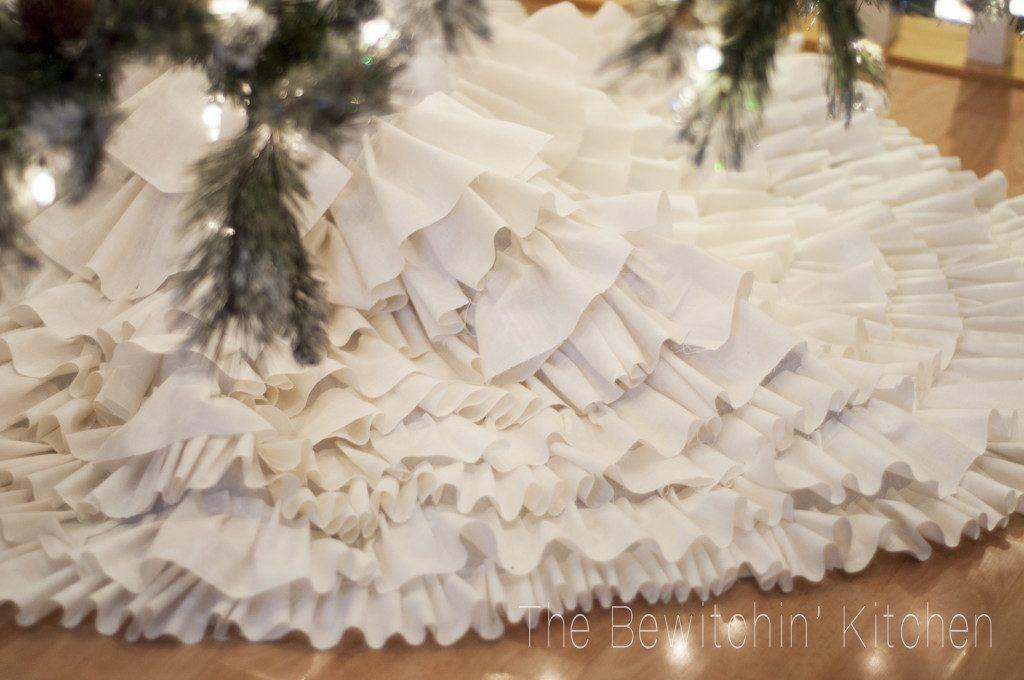 All Created - No Sew Ruffled Tree Skirt