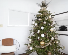 Glam Rustic Christmas Tree