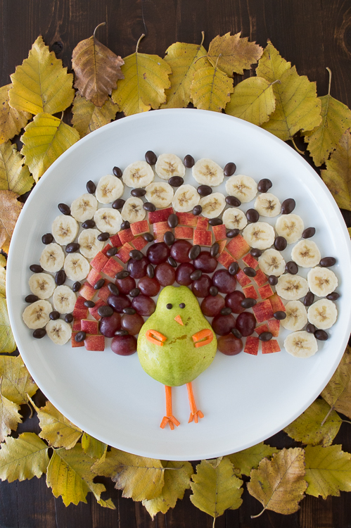 Turkey fruit platter that is too adorable to gobble up for What to serve with thanksgiving turkey