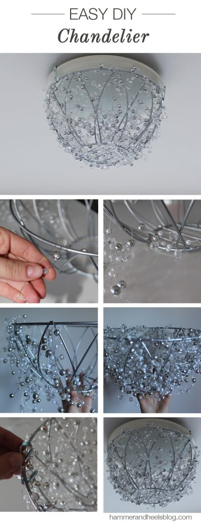 All Created - DIY Crystal Chandelier