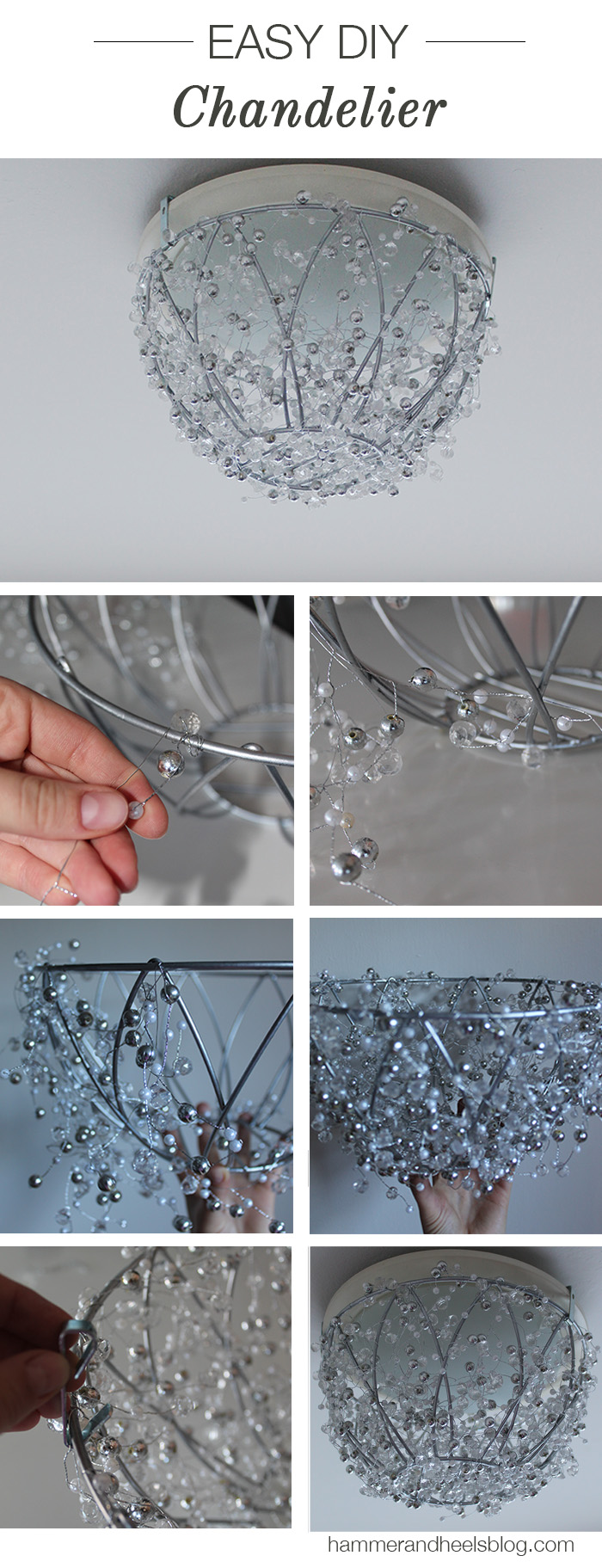 Diy crystal chandelier to sparkle up your home all created - Diy ceiling light cover ...