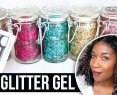 All Created - DIY Glitter Hair Gel