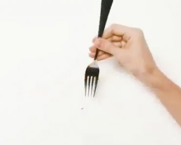 use a fork to hang a picture