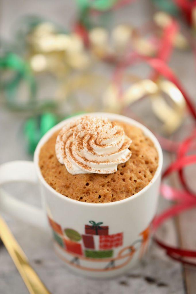 All Created- Holiday mug cake
