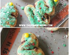 All Created - Easy Cinnamon Roll Christmas Trees