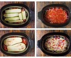 All Created - Crock Pot Low Carb Zucchini Lasagna