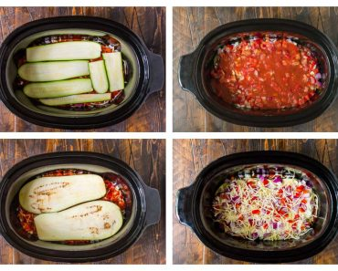 All Created - Crock Pot Low Carb Zucchini Lasagna