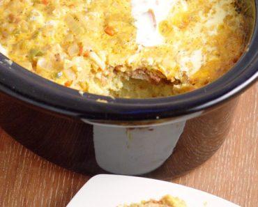 Overnight Crockpot Breakfast Casserole