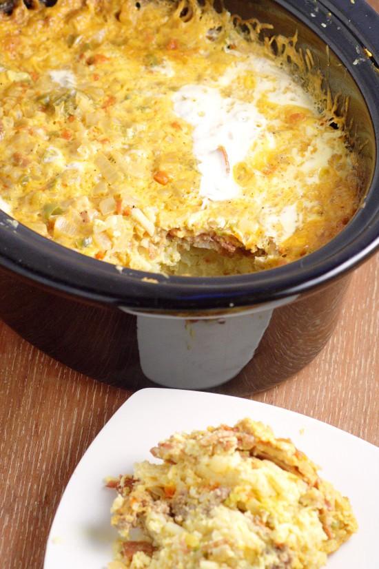 Overnight Crockpot Breakfast Casserole All Created