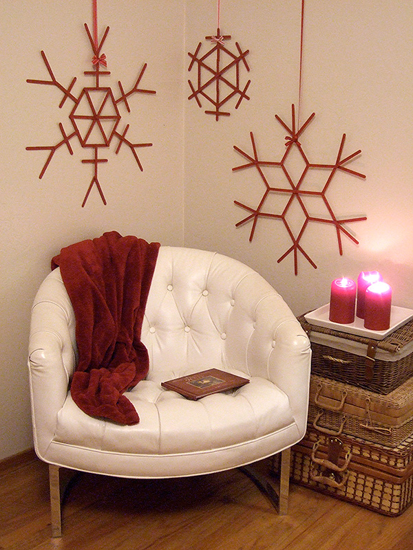 All Created - DIY Popsicle Stick Snowflakes