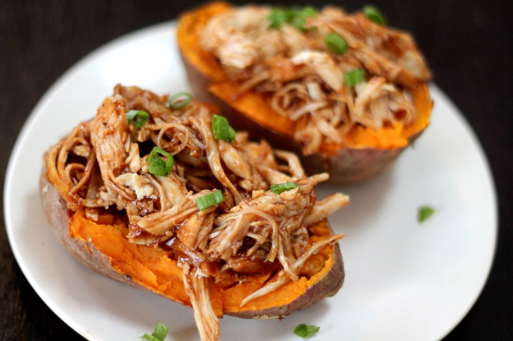 All Created - Barbeque Chicken Stuffed Sweet Potato