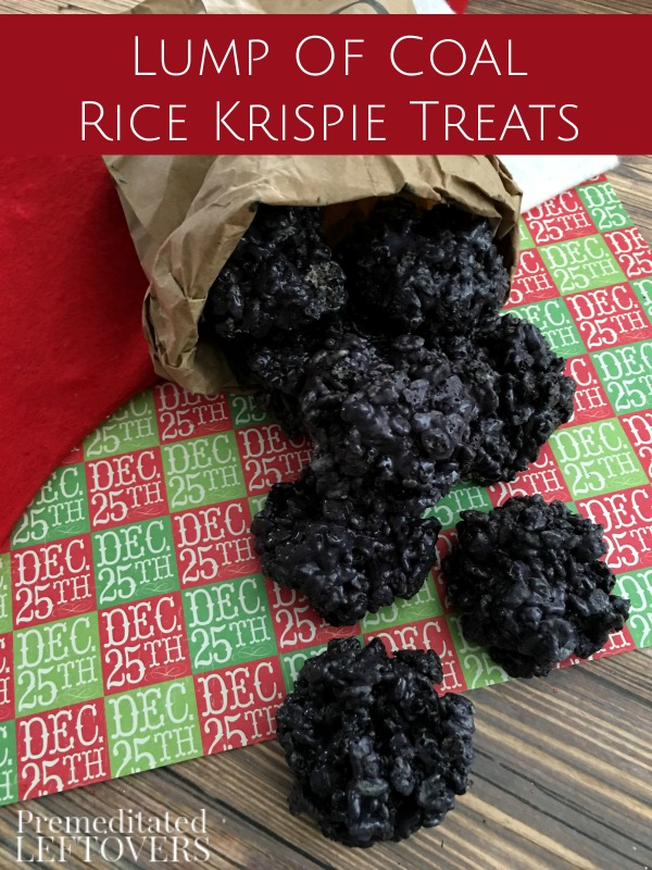 All Created - Rice Krispies Treat Lumps of Coal