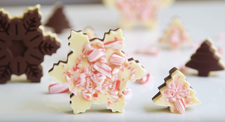 All Created - WChocolate Peppermint Snowflakes