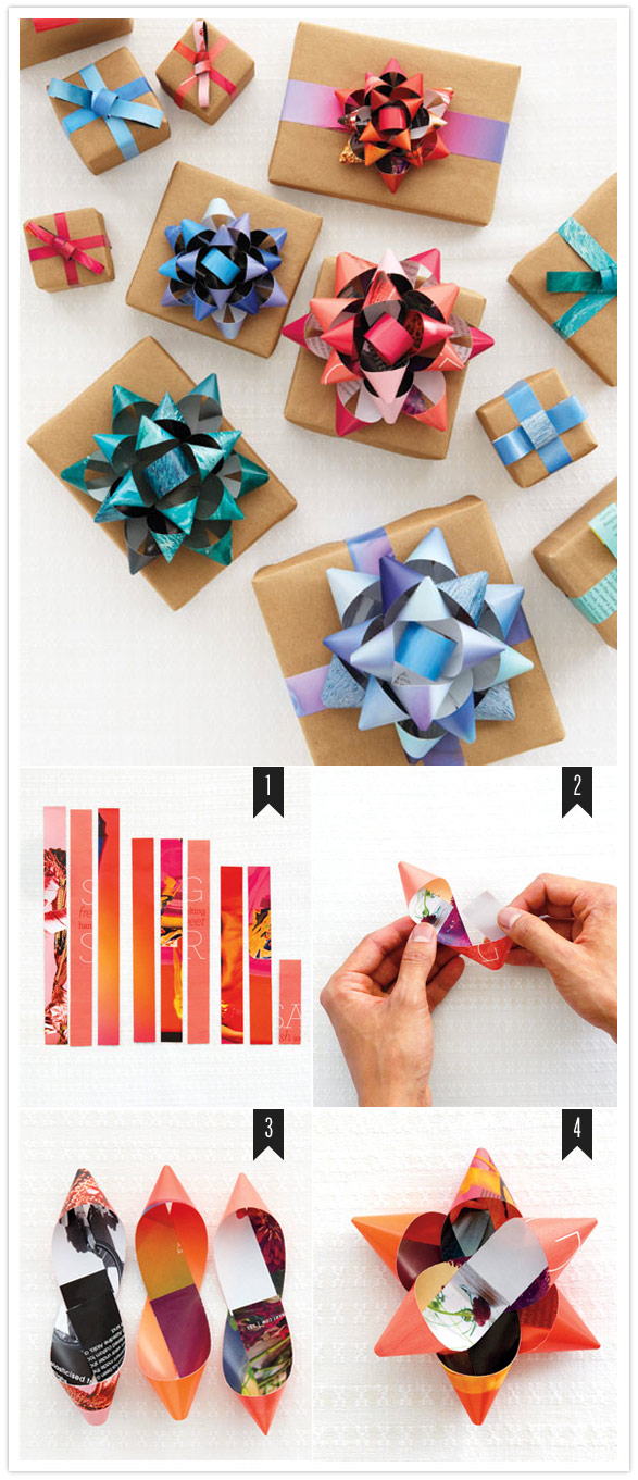 3 diy christmas bows to make beautifully wrapped gifts