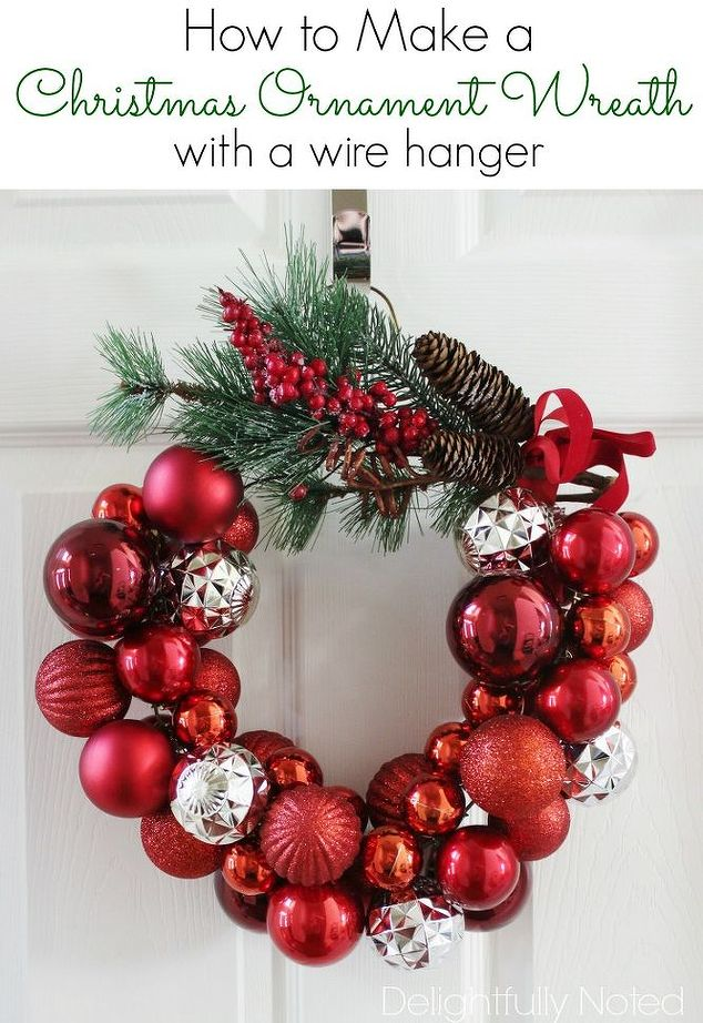 Deck the halls with this easy to make wire hanger ornament for Easy to make christmas decorations
