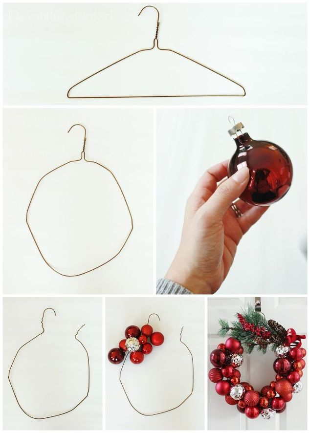 Deck The Halls With This Easy To Make Wire Hanger Ornament ...
