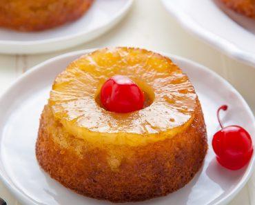 All Created - Mini Pineapple Upside Down Cake