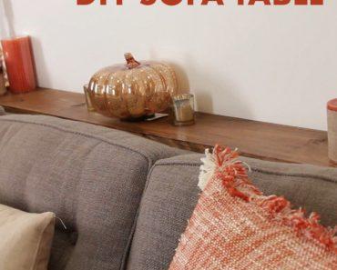 All Created - DIY Sofa Table
