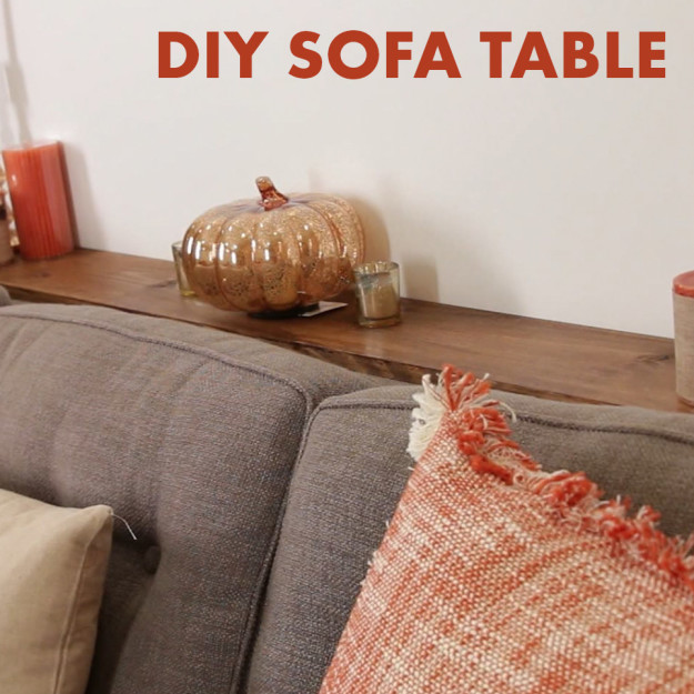 Diy sofa table gives you somewhere to place your coffee for Sofa table placement