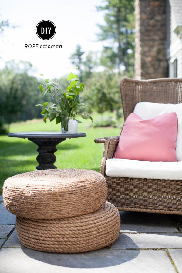 All Created - DIY Rope Ottoman