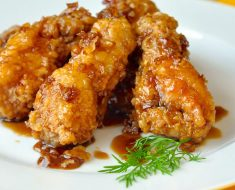 All Created - Crispy Honey Garlic Chicken Wings