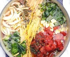 All Created - One Pot Pasta Basil Tomato Recipe