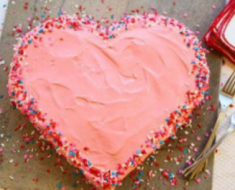 All Created - Valentine's Day Heart Cake