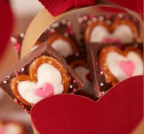 All Created - Chocolate Pretzel Candy Hearts
