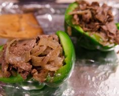 All Created - Philly Cheese Steak Stuffed Peppers