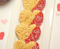 All Created - Valentine's Day Rice Krispies Heart Treats