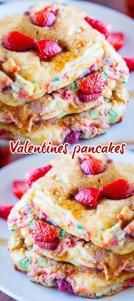 All Created - Valentine's Day Breakfast Pancakes
