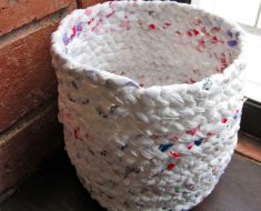 All Created - How To A Make Plastic Bag Storage Basket
