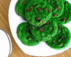 All Created - Mint Chocolate Chip Green Cookies