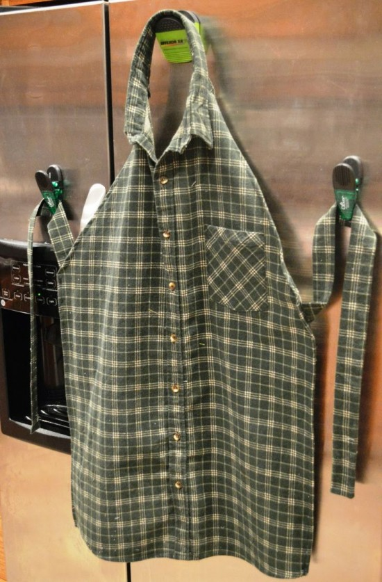 All Created - All Created - Apron From an Old Men's Shirt
