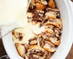 All Created - Easy Nutella Bread Pudding