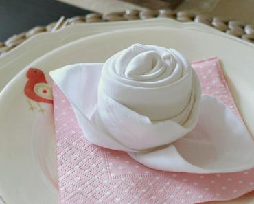 All Created - Rosebud Napkin