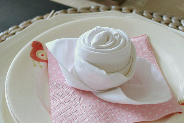 All Created - Rosebud Napkin