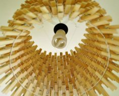 allcreated - diy easy clothespin chandelier