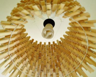 allcreated - diy easy clothespin chandelier